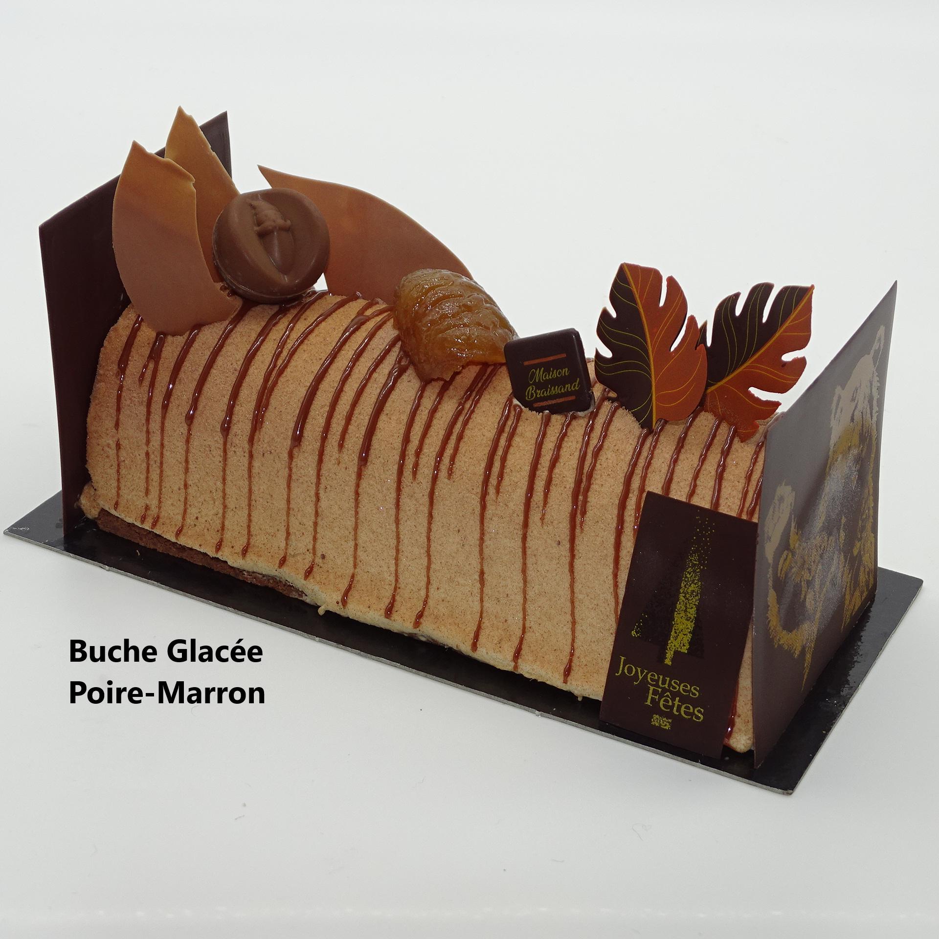 Buche Glacée Poire-Marron